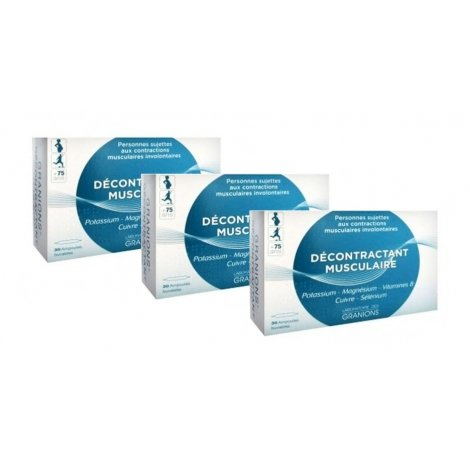 Granions Trio Pack Décontractant Musculaire 3x30 ampoules pas cher, discount