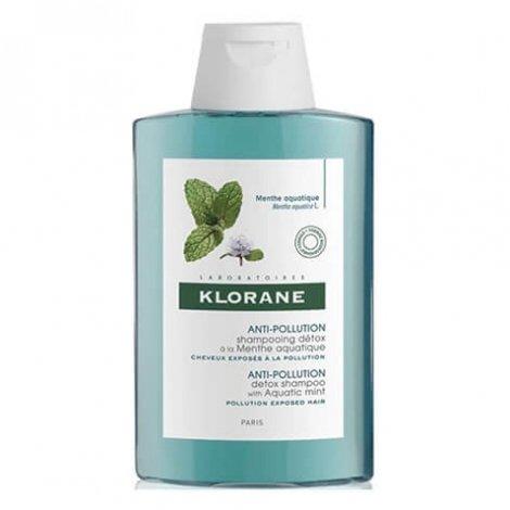Klorane Anti-Pollution Shampooing Détox à la Menthe Aquatique 200ml pas cher, discount