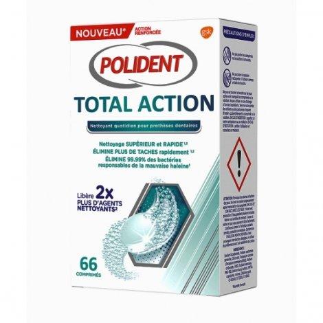Polident Total Action Nettoyant Appareils Dentaires x66 Comprimés pas cher, discount