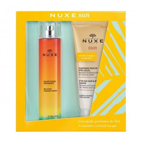 Nuxe Sun Coffret Eau Delicieuse 100ml + Shampooing Douche 200ml pas cher, discount