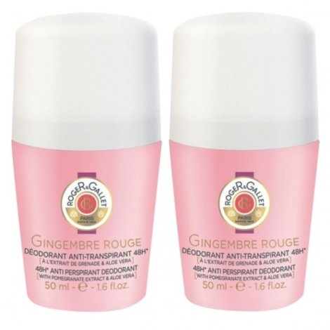 Roger & Gallet Duo Pack Gingembre Rouge Deo Roll-On 2x50ml pas cher, discount