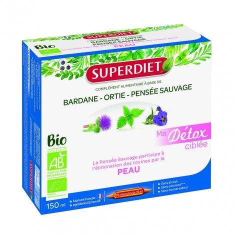 Superdiet Ma Détox Ciblée Peau 10 ampoules de 15ml pas cher, discount