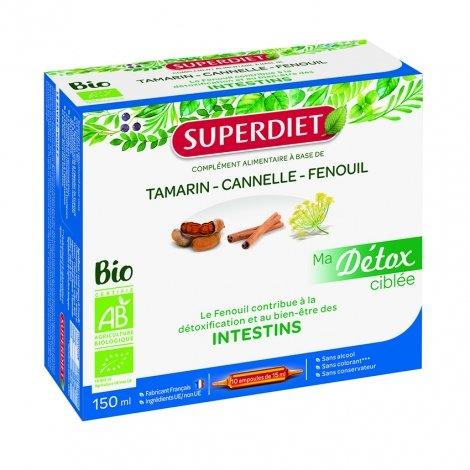 Superdiet Ma Détox Ciblée Intestins Bio 10 ampoules  pas cher, discount