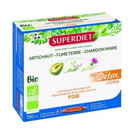 Superdiet Ma Détox Ciblée Foie Bio 10 ampoules pas cher, discount