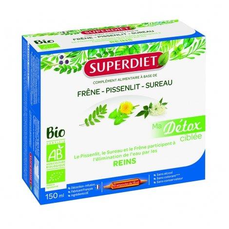 Superdiet Ma Détox Ciblée Reins Bio 10 ampoules pas cher, discount