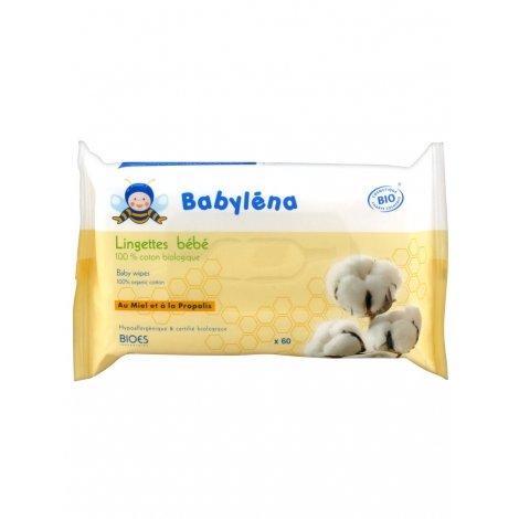 Babylena Lingettes Bébé en Coton 100% Bio x60 Lingettes pas cher, discount