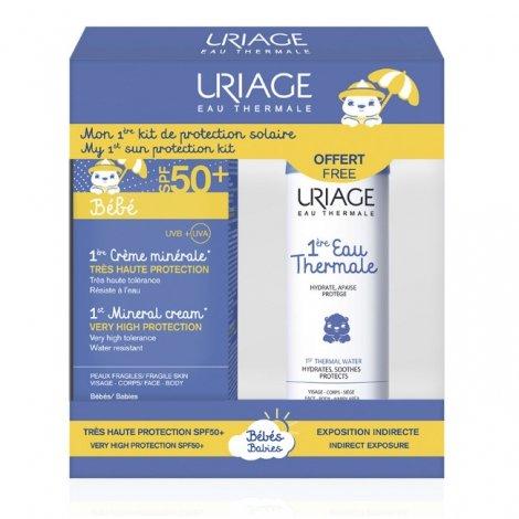 Uriage Bébé Crème Minérale SPF50+ 50ml + Eau Thermale 50ml OFFERT pas cher, discount