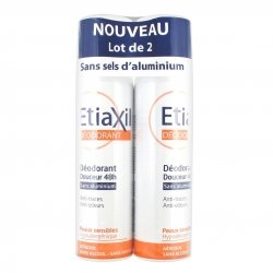 Etiaxil Déodorant Douceur 48h Aérosol Lot de 2 x 150ml