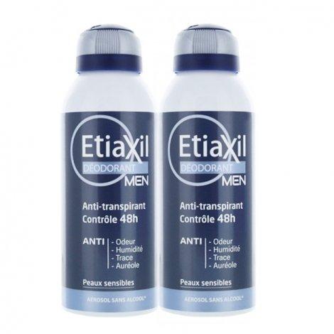 Etiaxil Déodorant Men Anti-Transpirant 48h Aérosol Lot de 2 x 150ml pas cher, discount