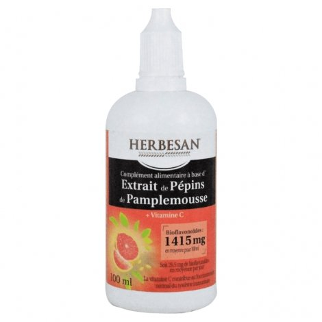 Herbesan Extrait de Pépin de Pamplemousse 1415mg 100ml pas cher, discount
