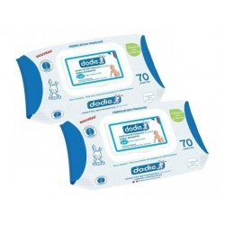Dodie Duo Pack Lingettes Nettoyantes Douceur 3en1 2x70