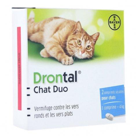 Drontal Chat Duo 2 comprimés sécables pas cher, discount