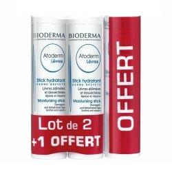 Bioderma Atoderm Stick Hydratant Lot de 2 + 1 OFFERT