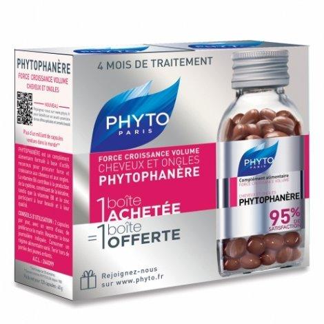 Phyto Phytophanère Cheveux et Ongles Lot de 2 x 120 capsules pas cher, discount
