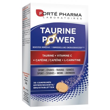 Forte Pharma ENERGIE Taurine Power Taurine, Caféine, Vitamine C x30 comprimés pas cher, discount