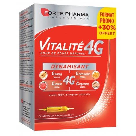 Forte Pharma vitalité 4g dynamisant ampoules 30x10ml pas cher, discount