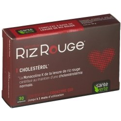 Sante Verte Levure de Riz Rouge 600 mg 30 comprimés