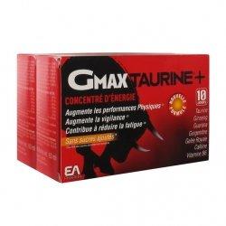 EA Pharma GMAX Taurine+ Concentré d'Energie Lot de 2 x 30 ampoules