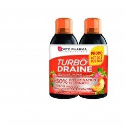 Forte Pharma Turbodraine Minceur Goût Pêche 500 ml x 2