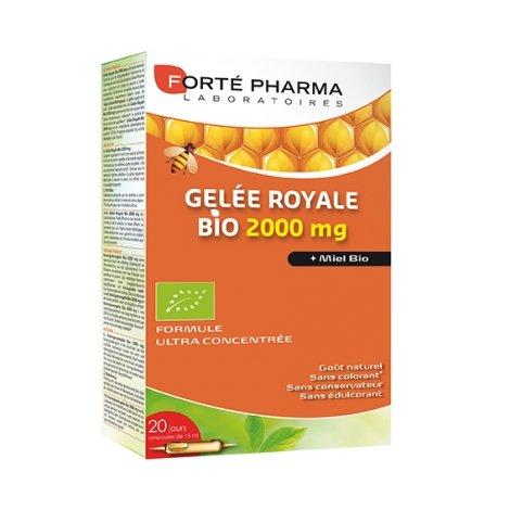 Gelée Royale 2000 mg Forte Pharma 100% d'Actifs d'Origine Naturelle 20 ampoules de 15 ml pas cher, discount
