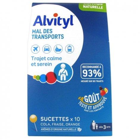 Alvityl Mal des Transports 10 sucettes pas cher, discount