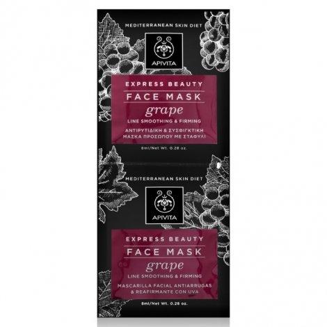 Apivita Express Beauty Face Mask Grape 2 x 8ml pas cher, discount
