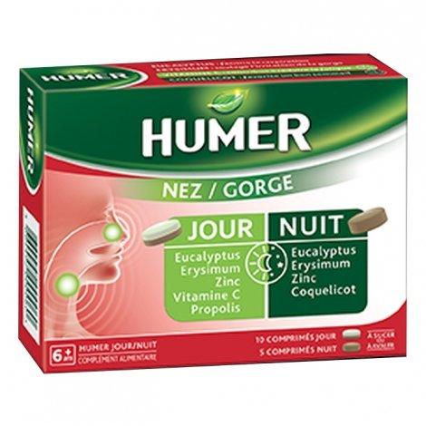Humer Nez/Gorge 10 Comprimés Jour + 5 Comprimés Nuit pas cher, discount