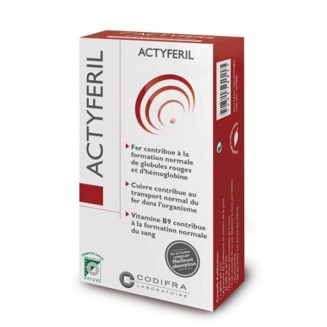 Codifra Actyferil Carence en fer 60 gélules pas cher, discount