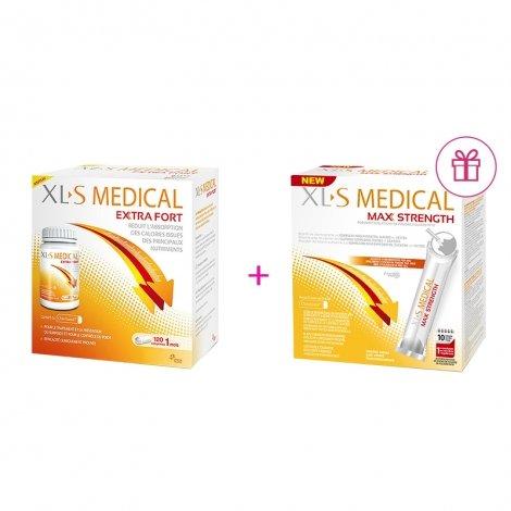 XLS Medical Max Strenght/Extra Fort 120 comprimés + XLS Medical Max Strenght/Extra Fort 20 sticks GRATUIT pas cher, discount