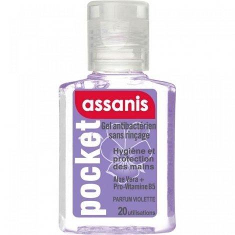 Assanis Pocket Gel Main Antibacterien Violette 20Ml pas cher, discount