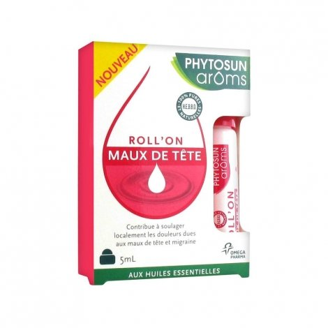 Phytosun Aroms Roll'On Maux de Tête 5ml pas cher, discount
