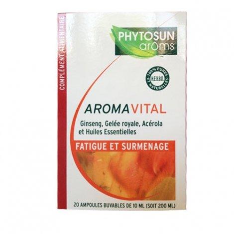 Phytosun Aroms AromaVital Fatigue et Surmenage 20 ampoules de 10ml pas cher, discount
