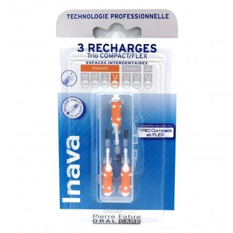 Inava 3 Recharges Trio Compact/Flex Espaces Interdentaires Etroits 1,2mm pas cher, discount
