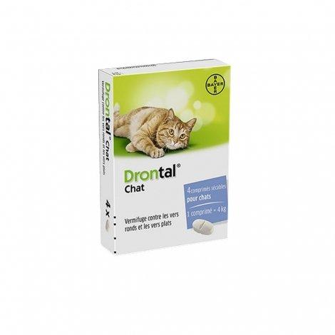 Drontal Chat Vermifuge 4 comprimés pas cher, discount