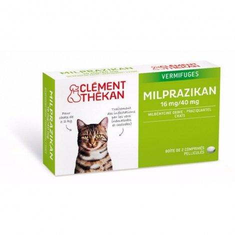 Clement Thekan Milprazikan Vermifuges Chats 2 comprimés pas cher, discount