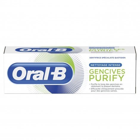 Oral B Dentifrice Gencives Purify Nettoyage Intense 75ml pas cher, discount