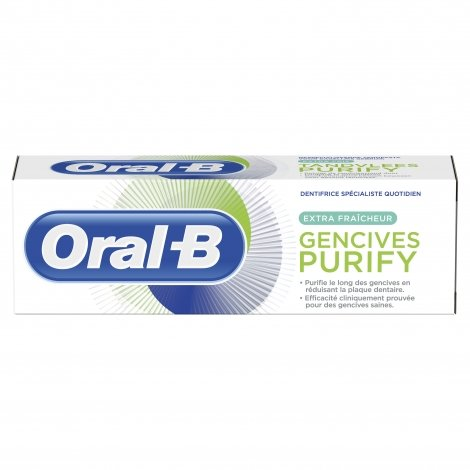 Oral B Gencives Purify Dentifrice Extra Fraîcheur 75ml pas cher, discount