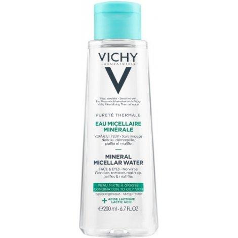 Vichy Pureté Thermale Eau Micellaire Minérale Peau Grasse 200ml pas cher, discount
