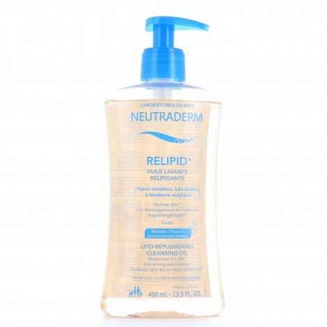 Neutraderm Relipid+ Huile Lavante Relipidante 400ml pas cher, discount