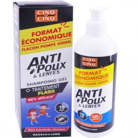Cinq sur Cinq Anti Poux & Lentes Shampoing Gel 400ml pas cher, discount