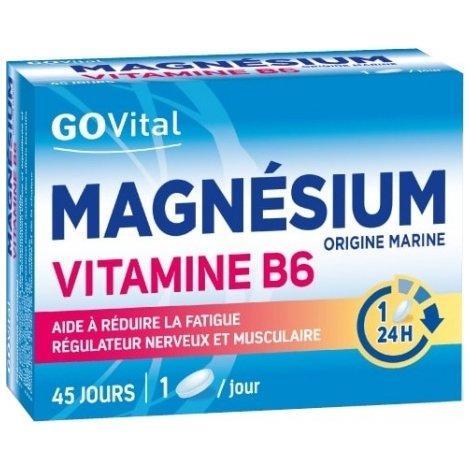 GoVital Magnésium Vitamine B6 45 Comprimés pas cher, discount