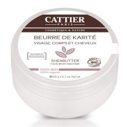 Cattier Beurre de Karité 100% Bio 20g