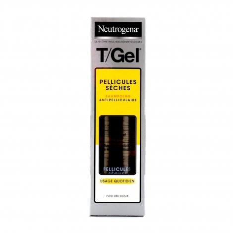 Neutrogena T/Gel Pellicules Sèches Shampoing Antipelliculaire 250ml pas cher, discount