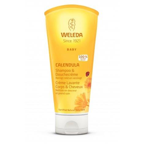 Weleda Calendula Baby Crème Lavante Corps & Cheveux 200ml pas cher, discount