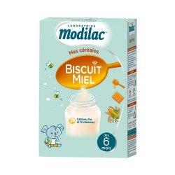 Modilac Mes Céréales Biscuit Miel 300g