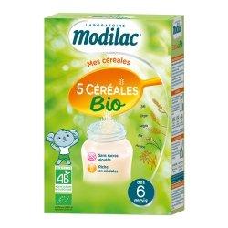 Modilac Mes Céréales 5 Céréales Bio 230g