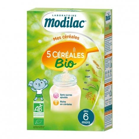 Modilac Mes Céréales 5 Céréales Bio 230g pas cher, discount