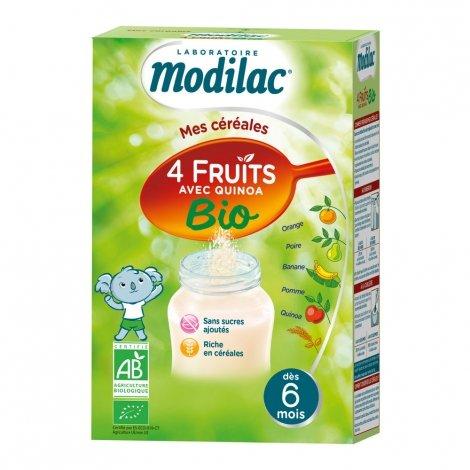 Modilac Mes Céréales 4 Fruits avec Quinoa Bio 230g pas cher, discount