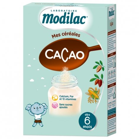 Modilac Mes Céréales Cacao 300g pas cher, discount