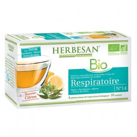 Herbesan Infusion Respiratoire Saveur Citron n°14 20 sachets pas cher, discount